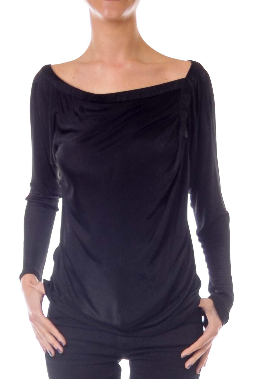 Black Asymmetric Top Front