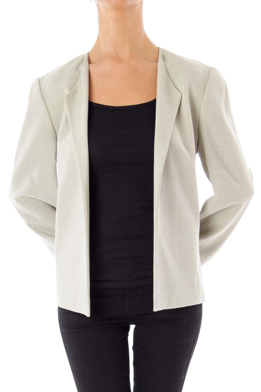 Pastel Green Tweed Jacket Front