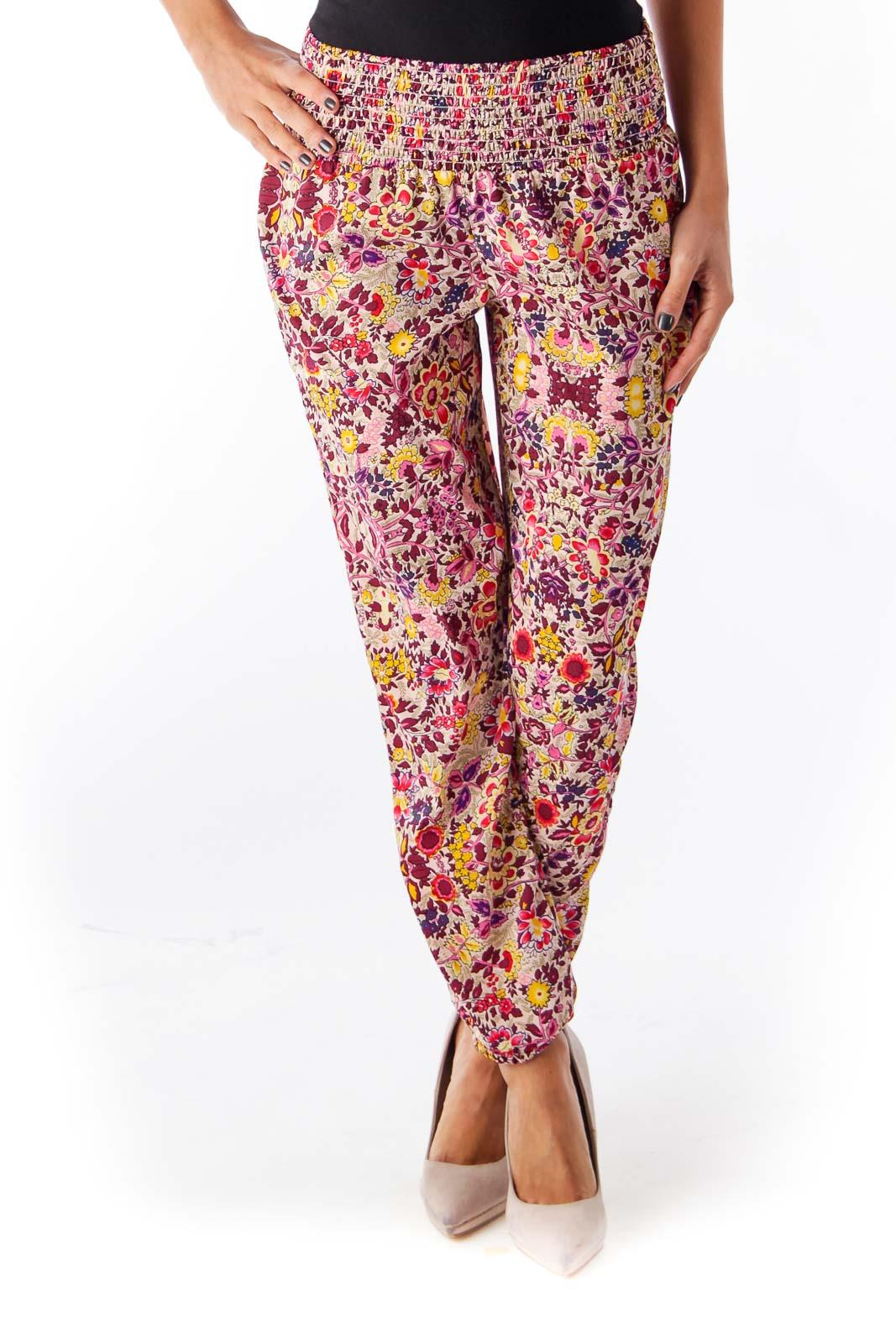 Floral Harem Pants Front