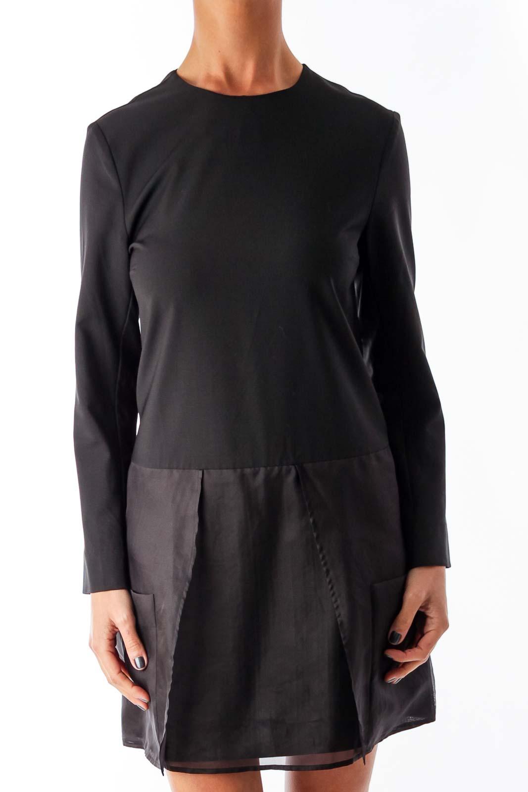 Black Silk Bottom Dress Front