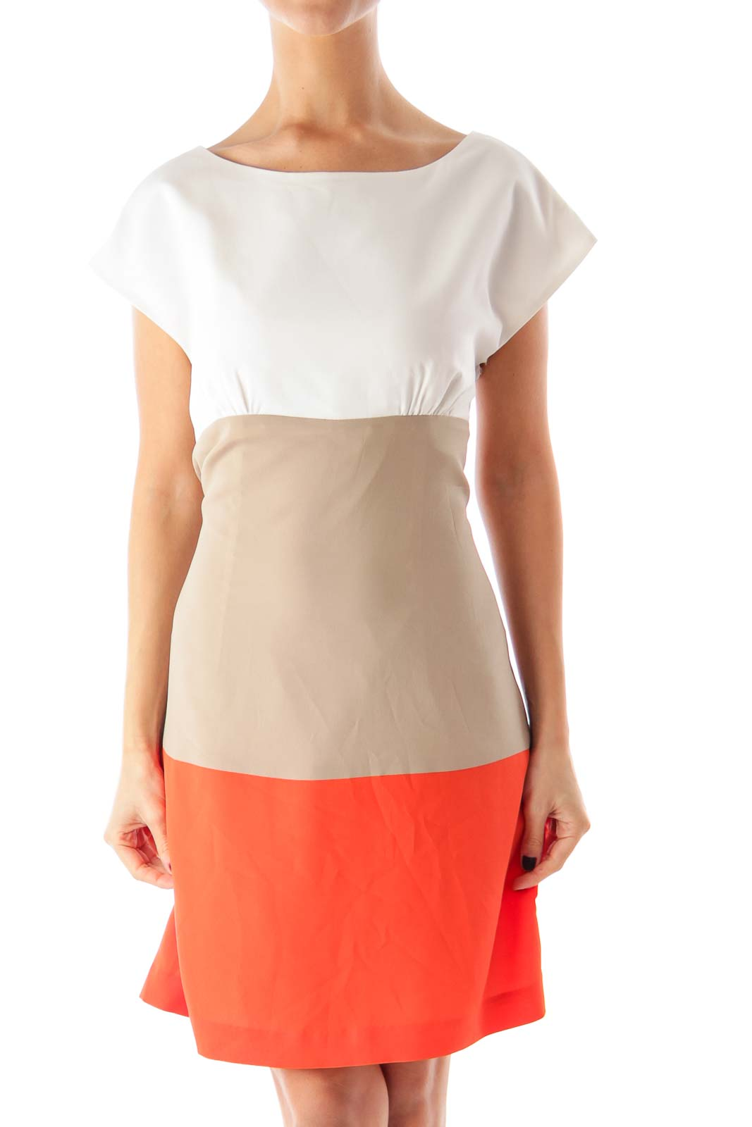 Color Block Straight Dress Front
