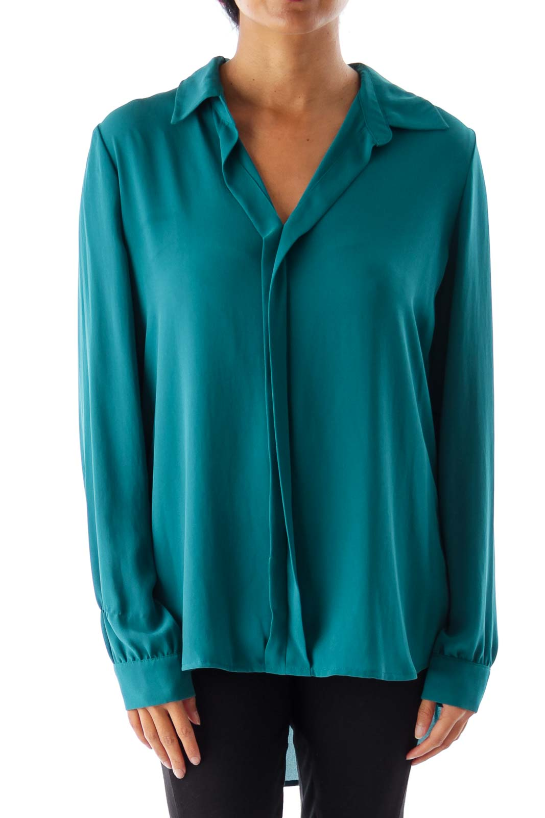 Emerald Green Blouse Front