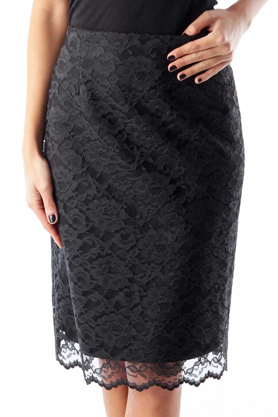 Black Lace Skirt Front