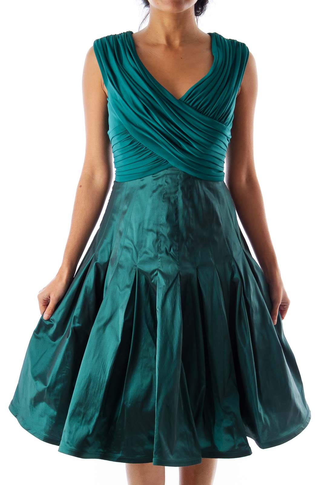 Emerald Green Party Dress Front