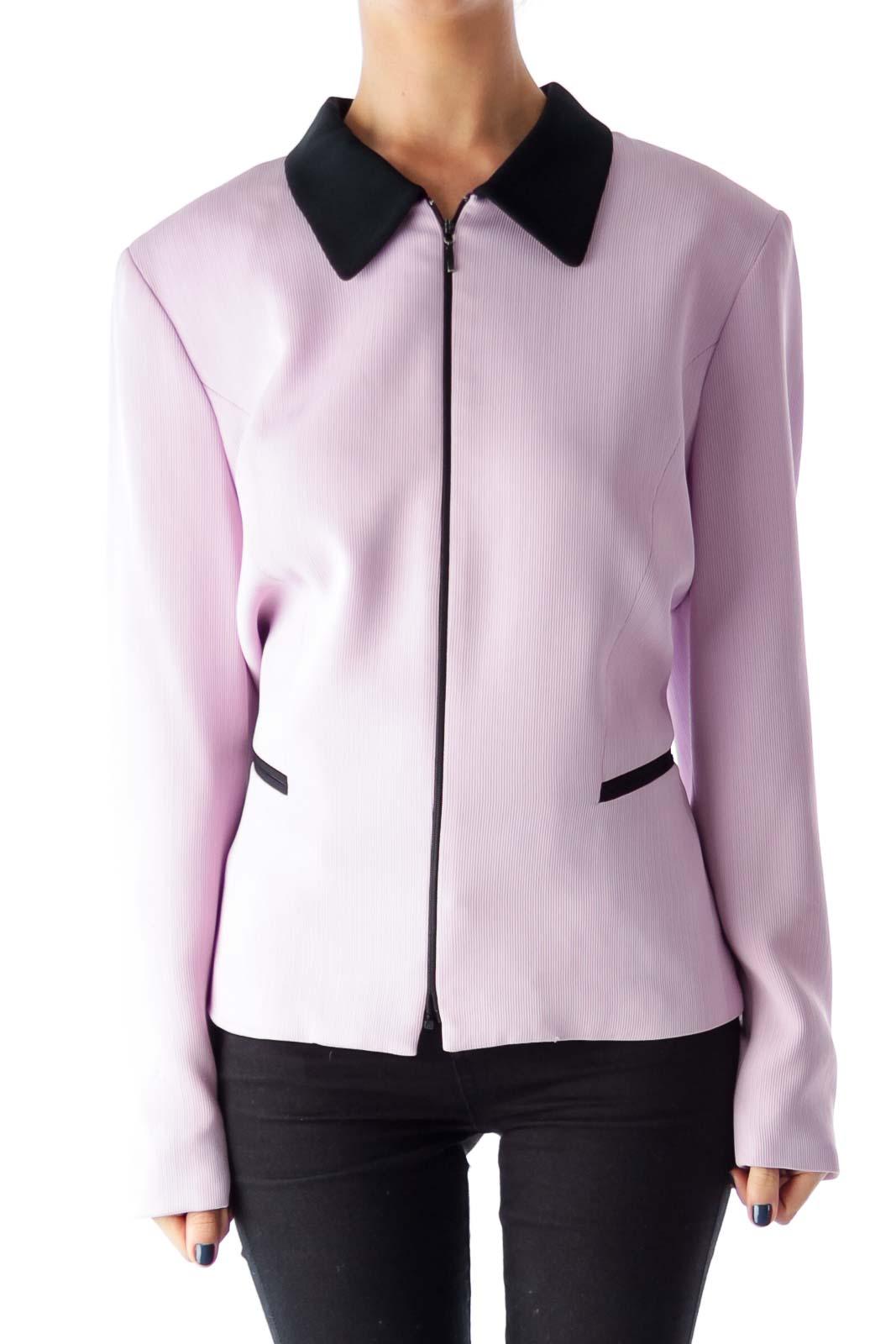 Lavender & Black Ziper Jacket Front
