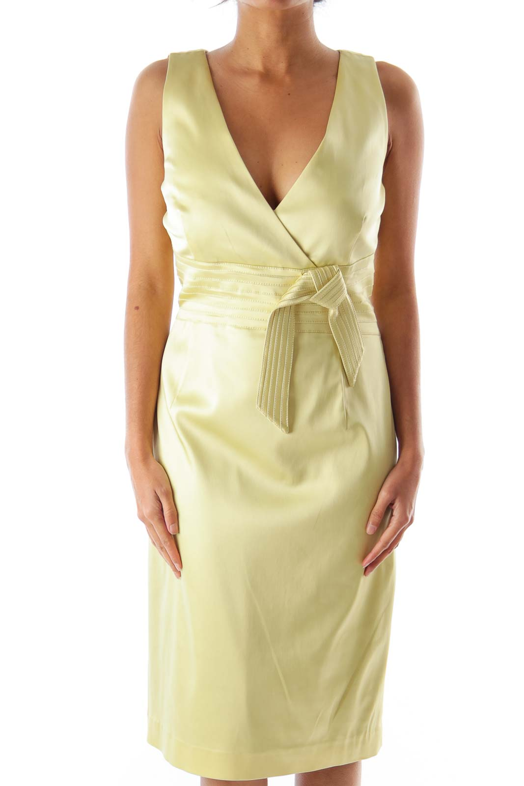 Pastel Green Bow Dress Front
