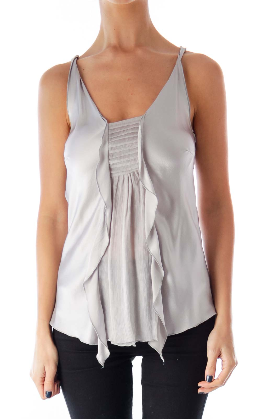 Gray Front Detail Top Front
