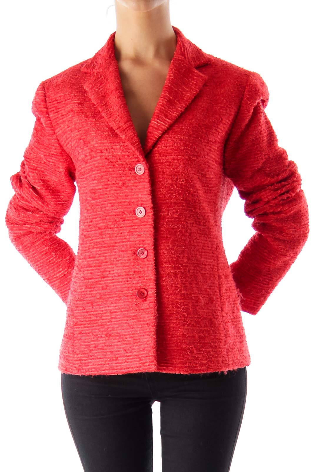 Red Texture Jacket Front
