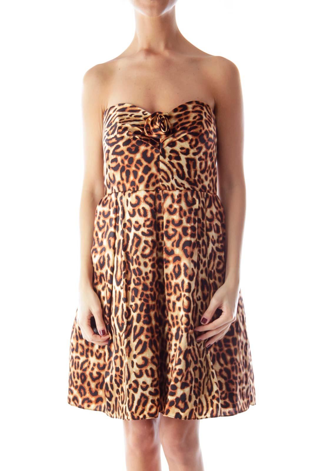 Cheetah Print Mini Dress Front
