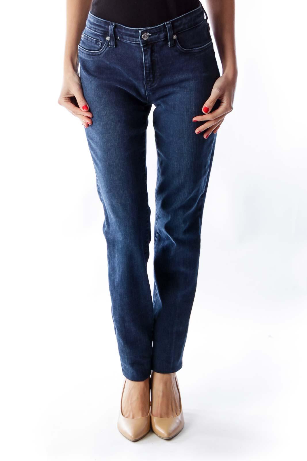 Blue Super Skinny JEans Front