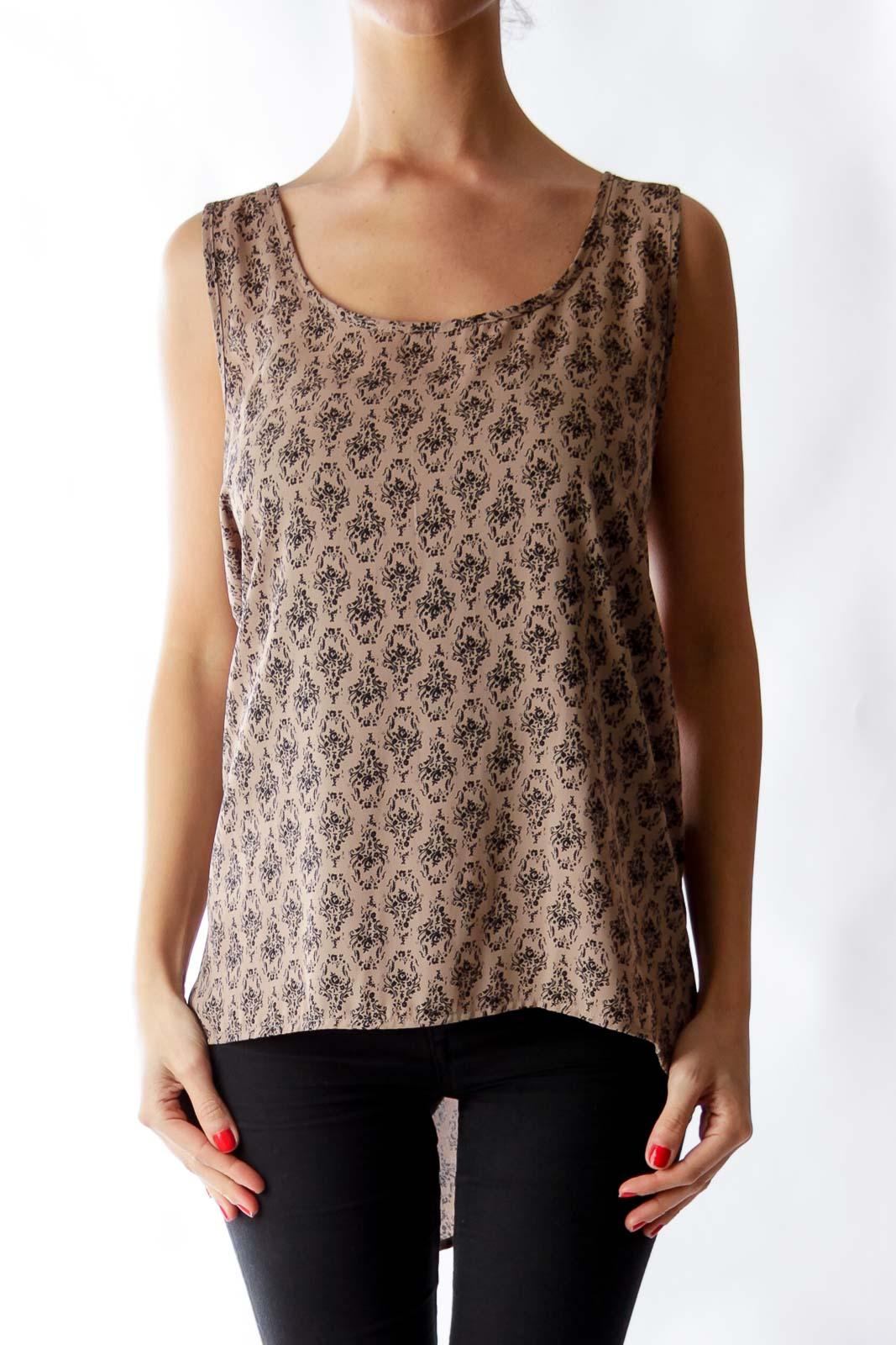Brown & Black Print Shirt Front
