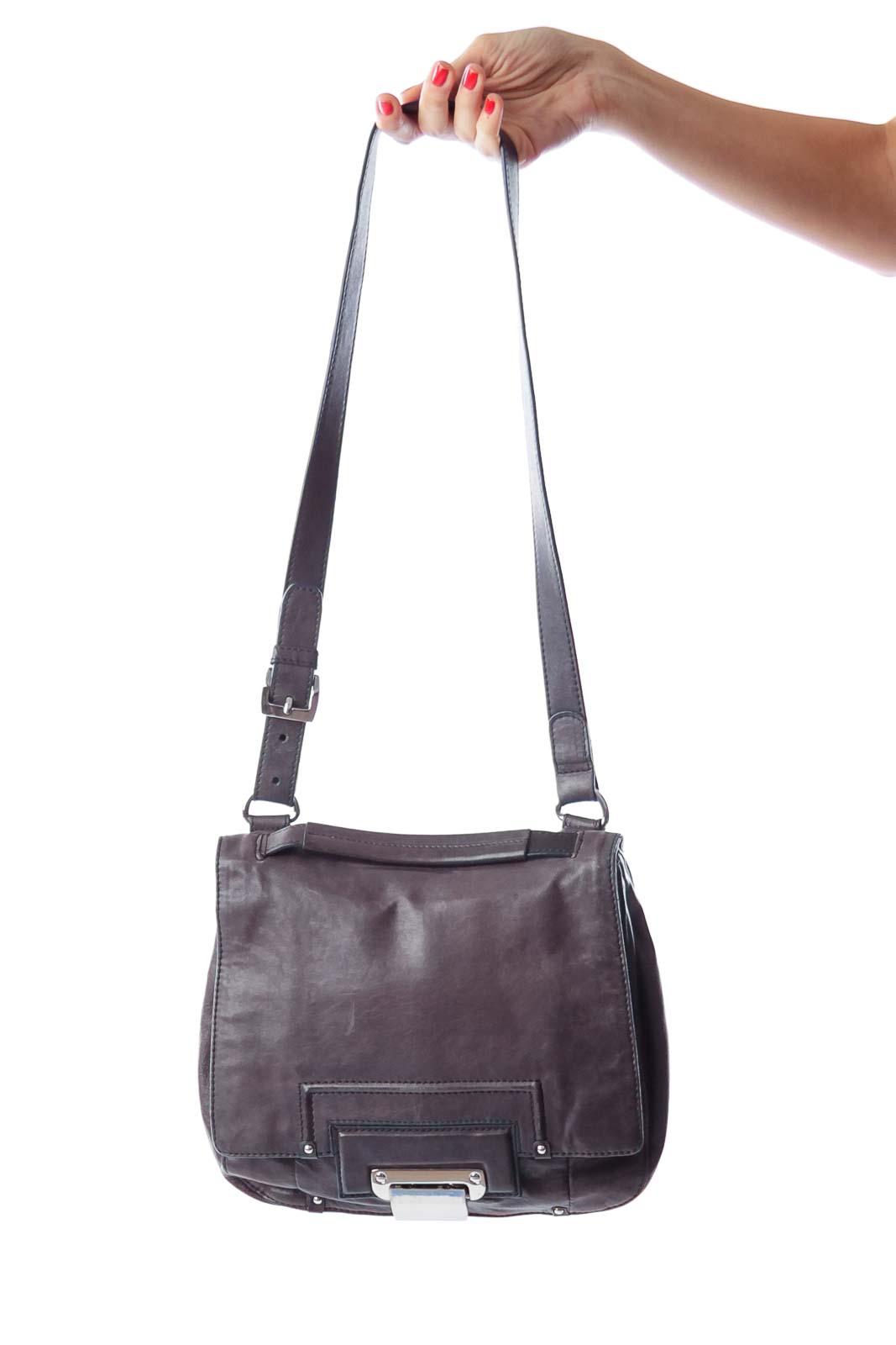 Dark Gray Crossbody Bag Front