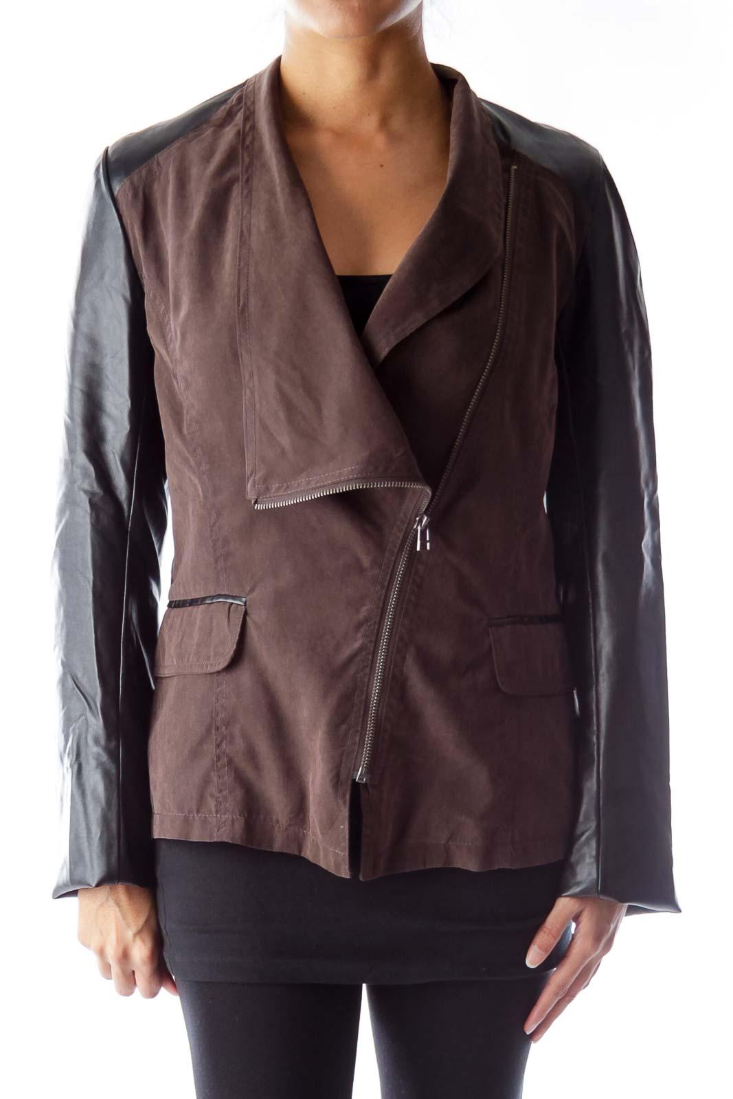 Black & Brown Jacket Front
