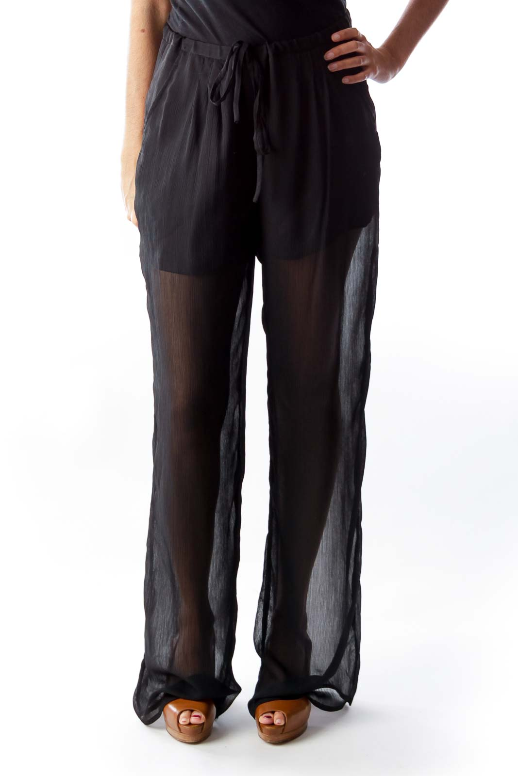 Black Pants Front