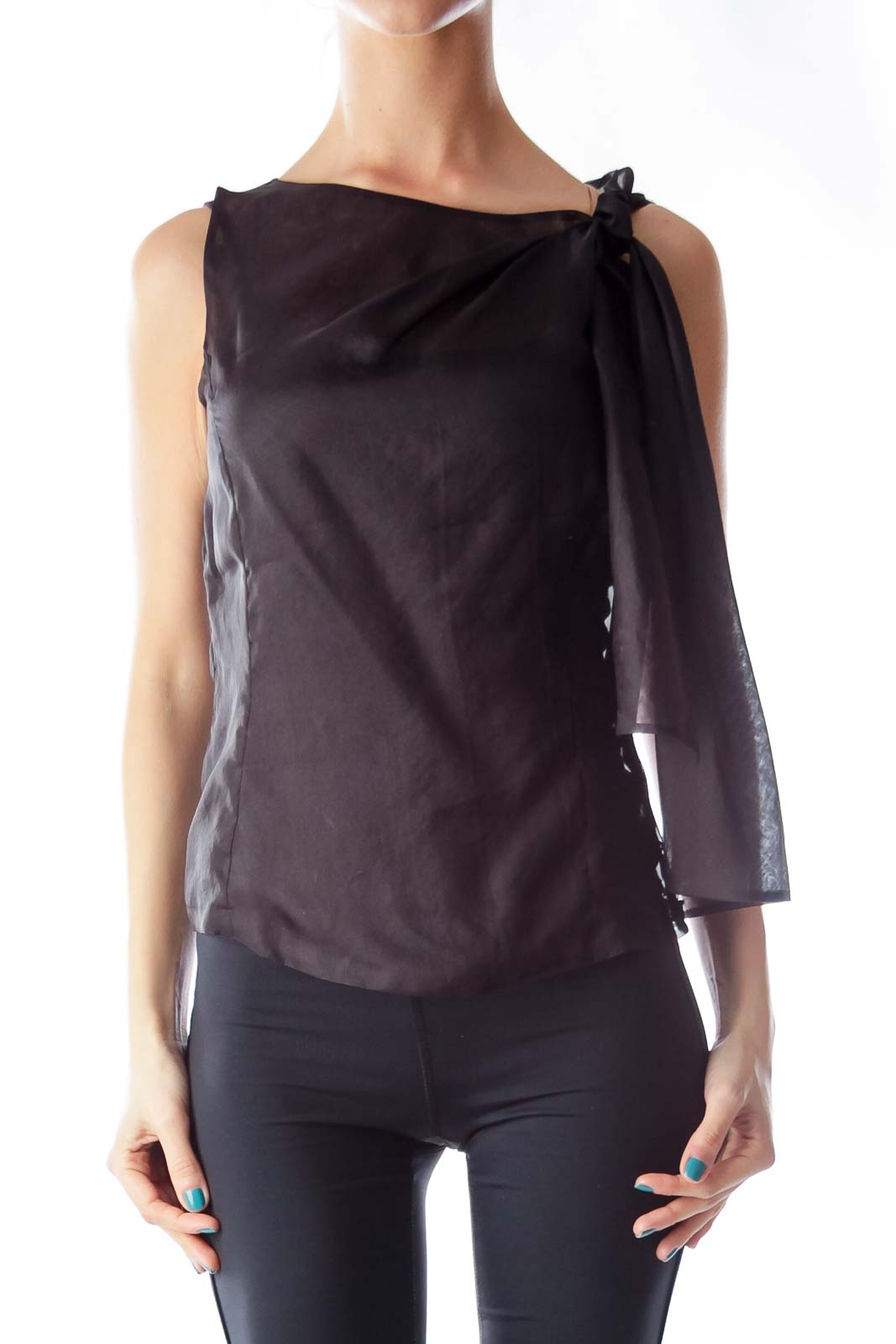 Black See Trough Shirt Front