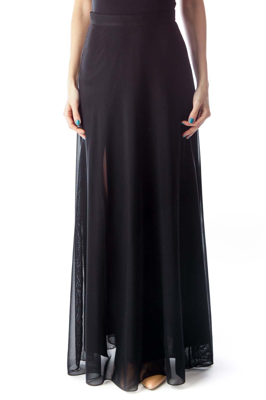 Black Long Skirt Front