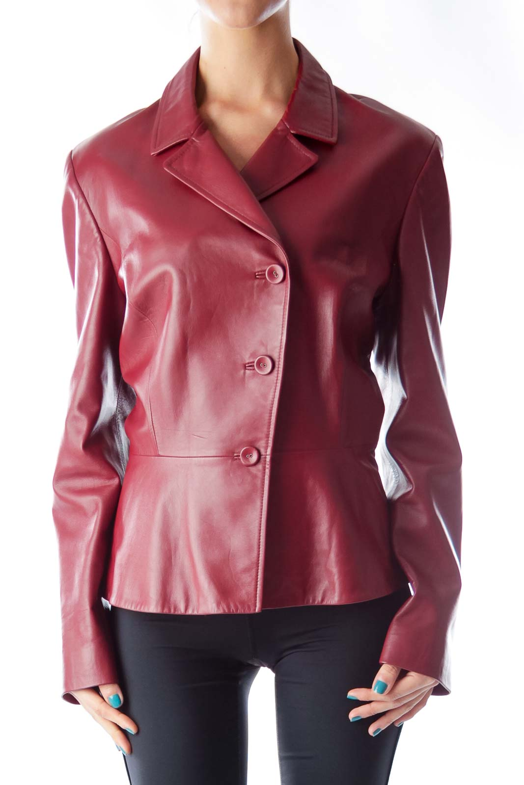 Red Leather Jacket Front
