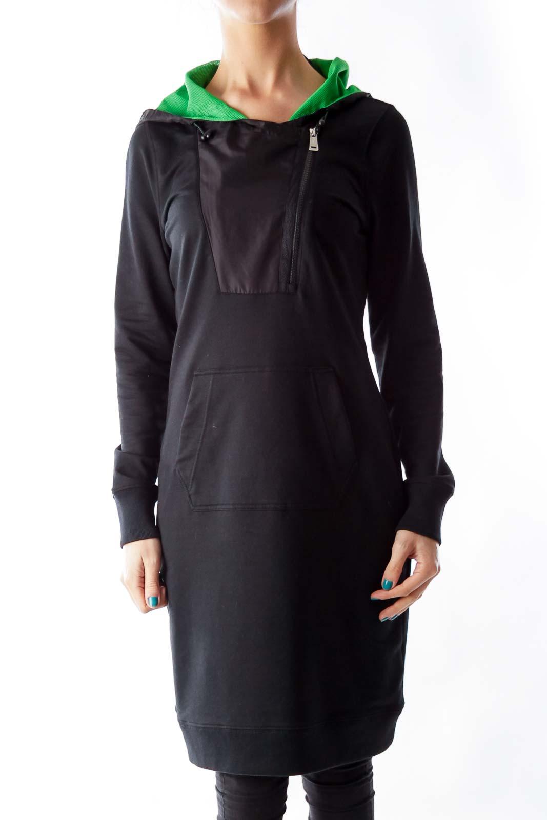Black & Green Sports Dress Front
