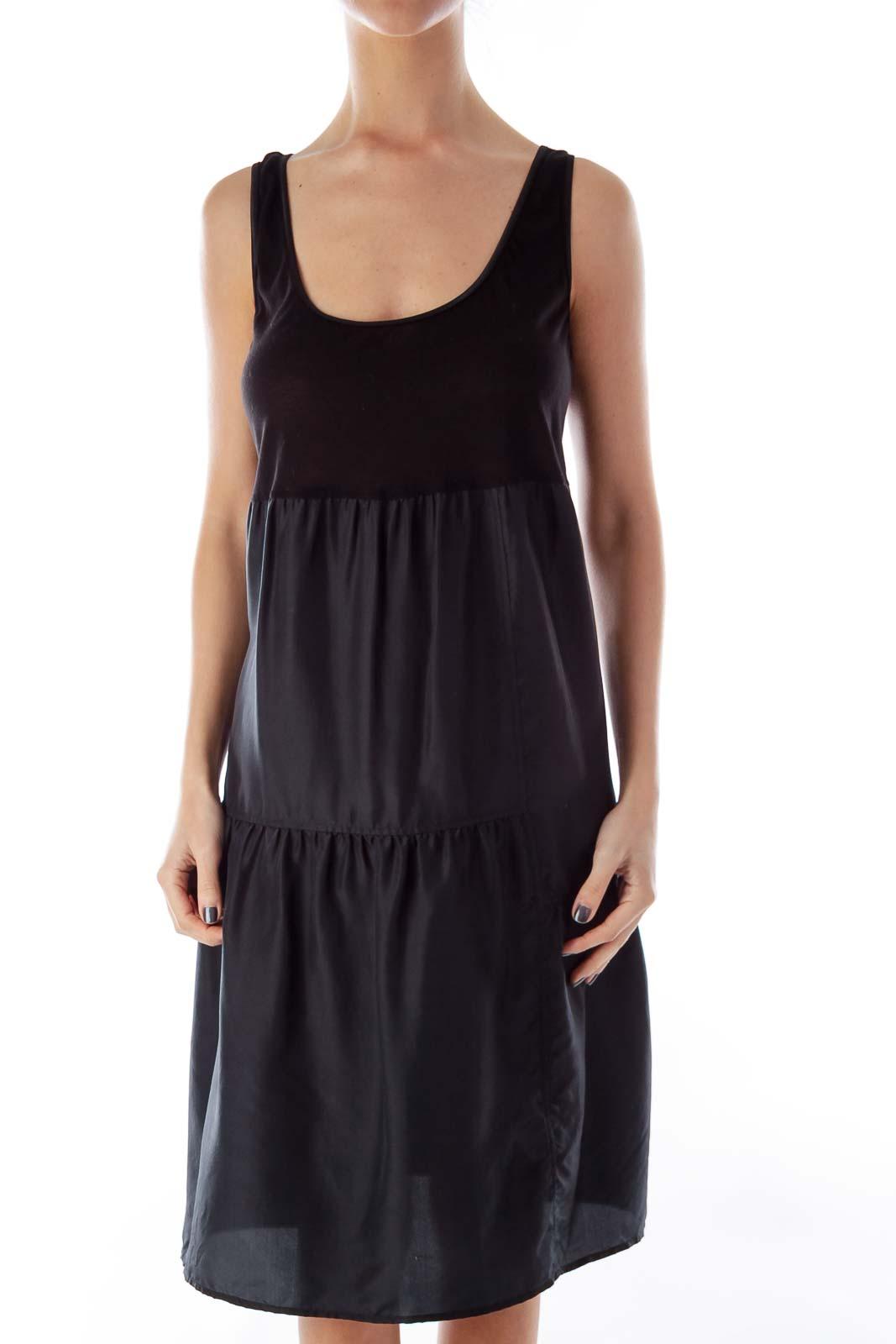 Black Layered Dress Front
