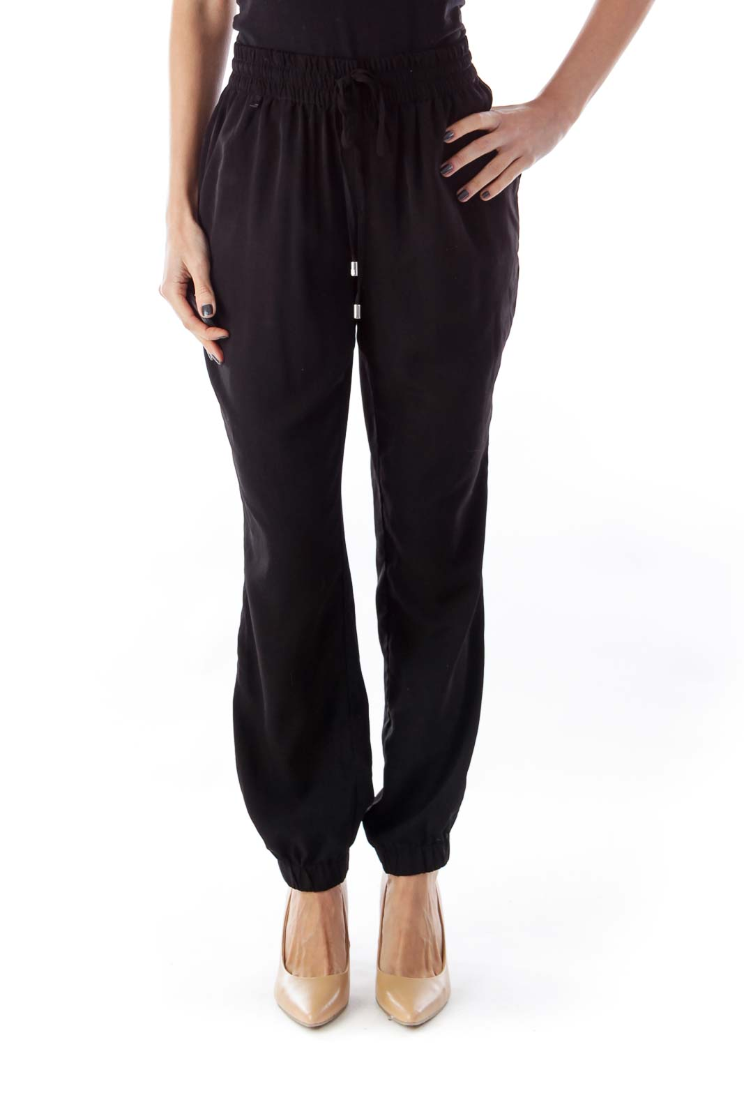 Black Jogger Pants Front