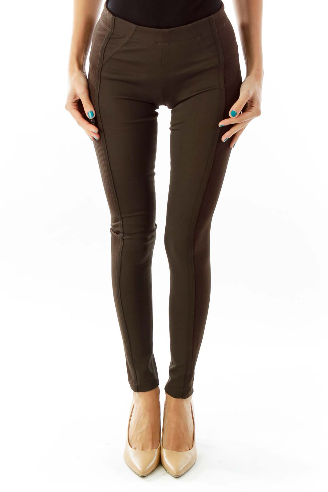 Brown Skinny Legging Front