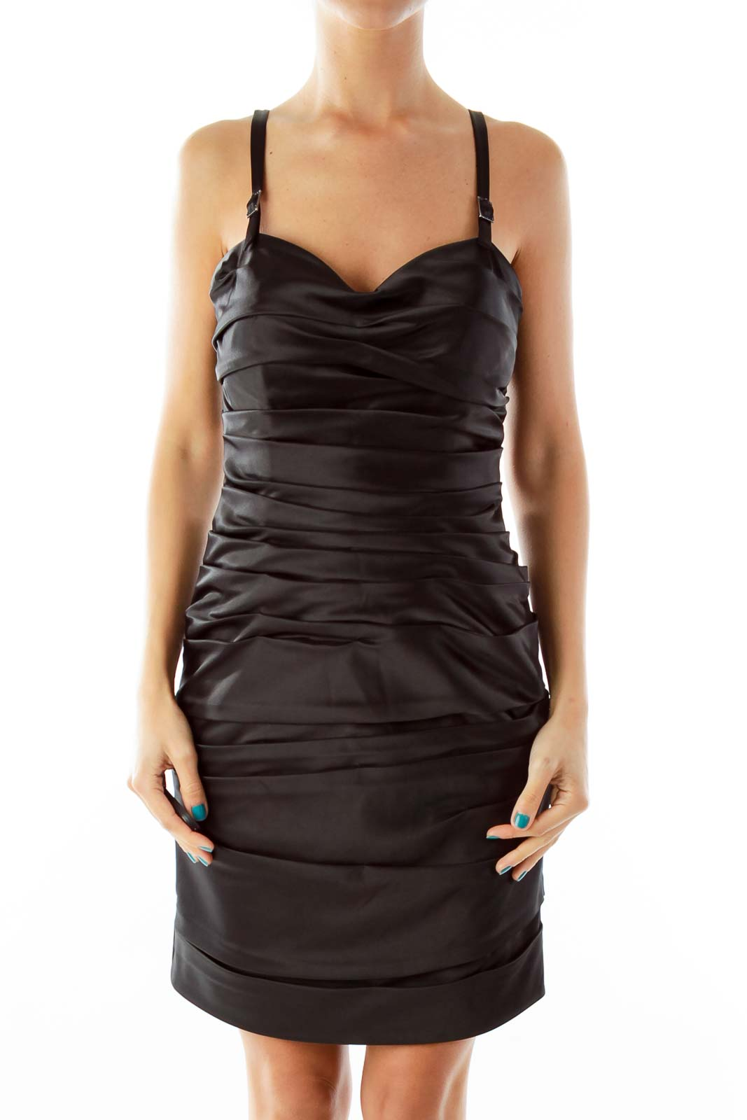 Black Fitted LBD Front