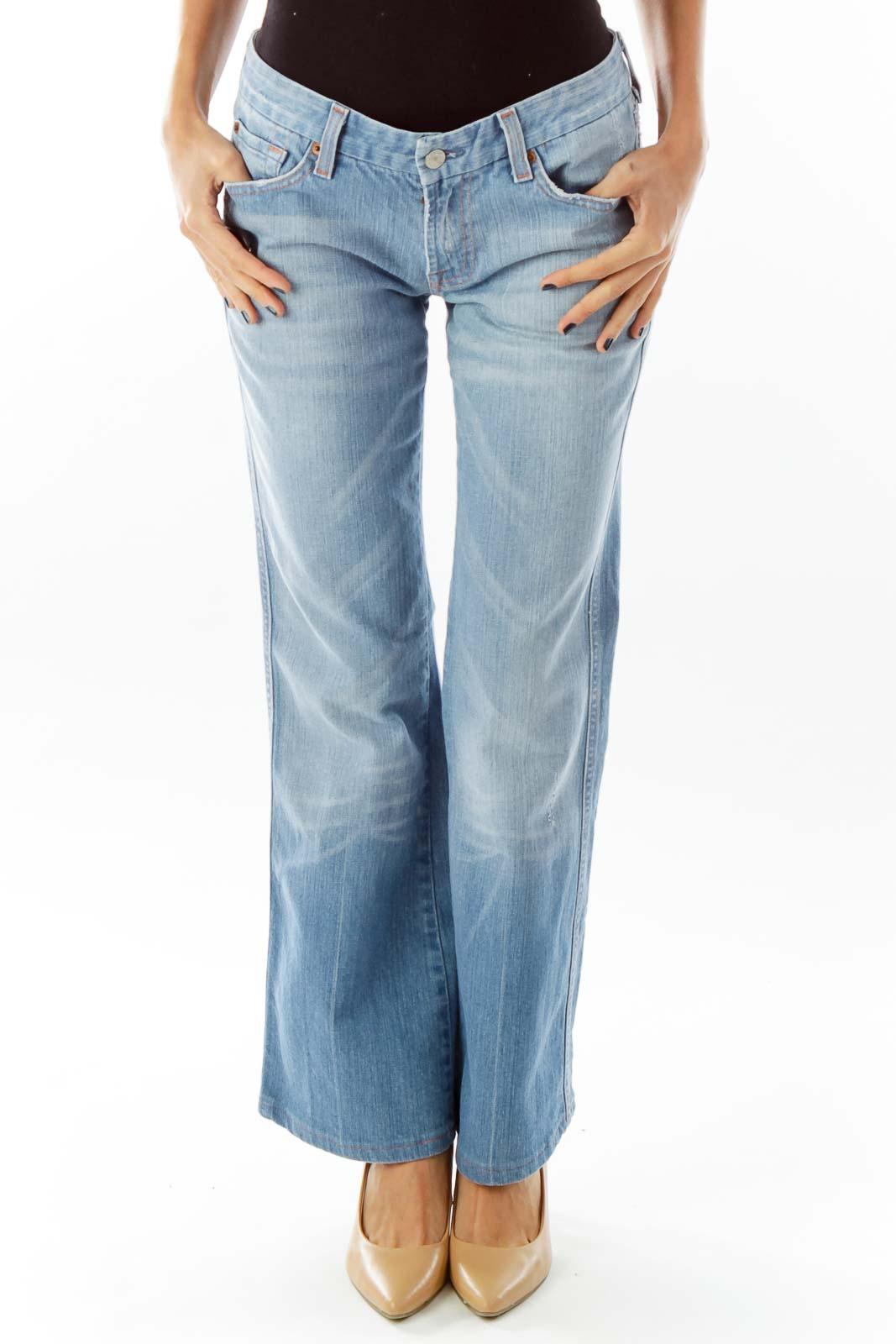 Blue Denim Pant Front