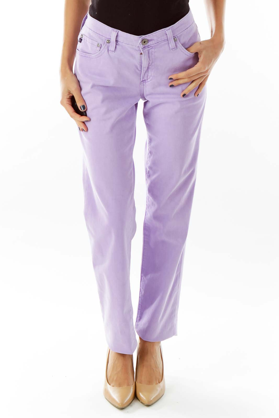 Lavender Fitted Pant Front