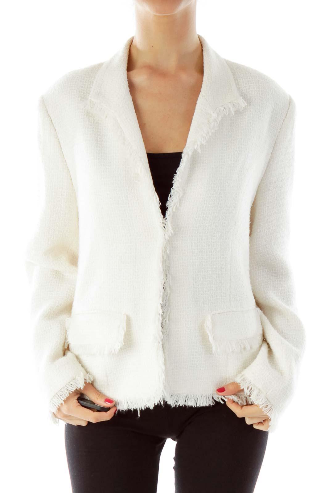 Cream Tweed Jacket Front