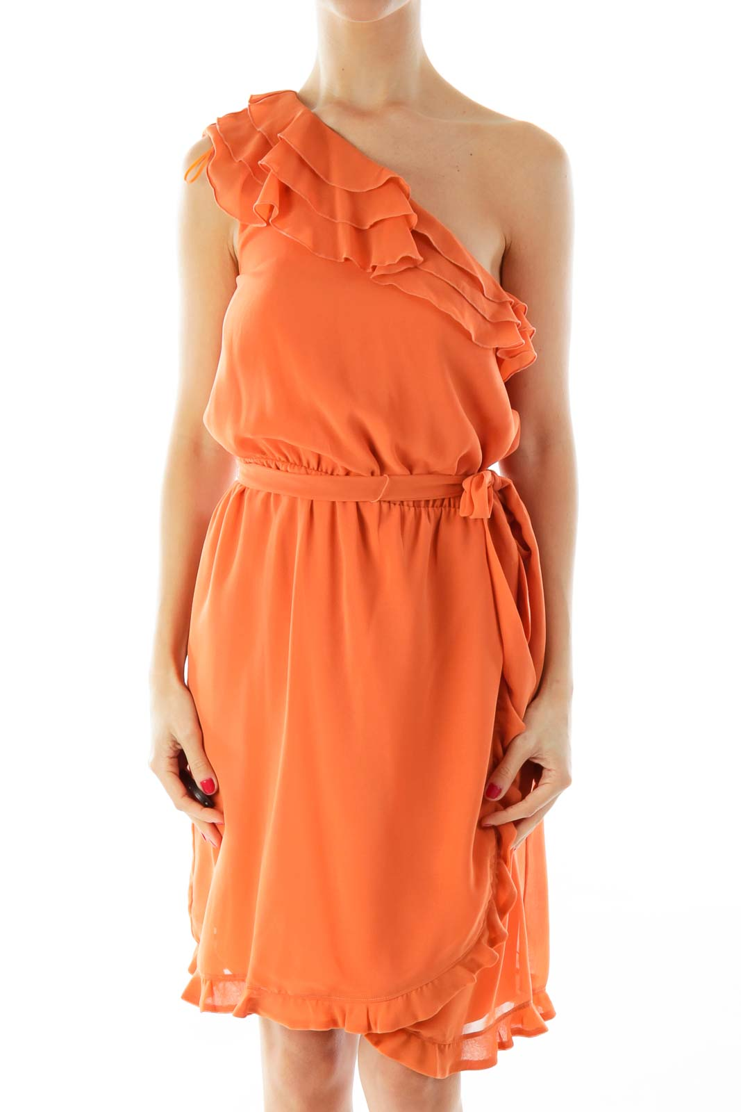 Orange Day Dress Front
