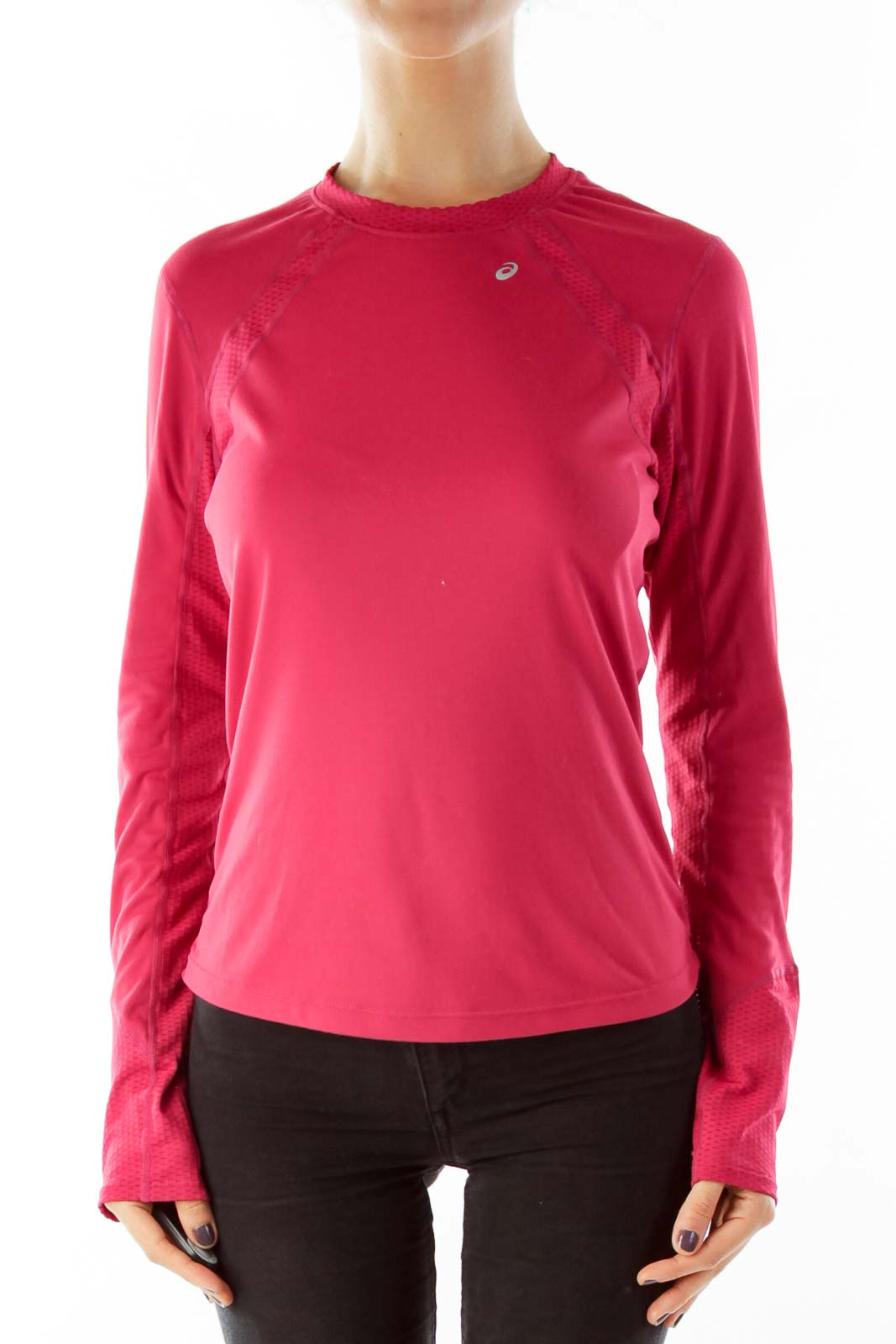 Pink Long Sleeve Sport Top Front