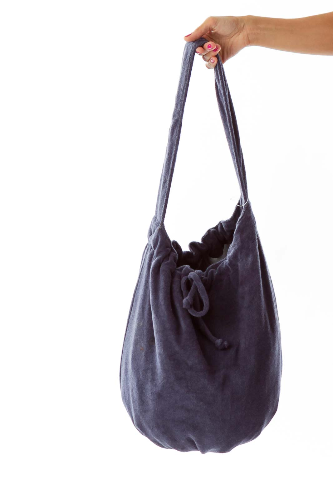 Navy Bow Tote Front