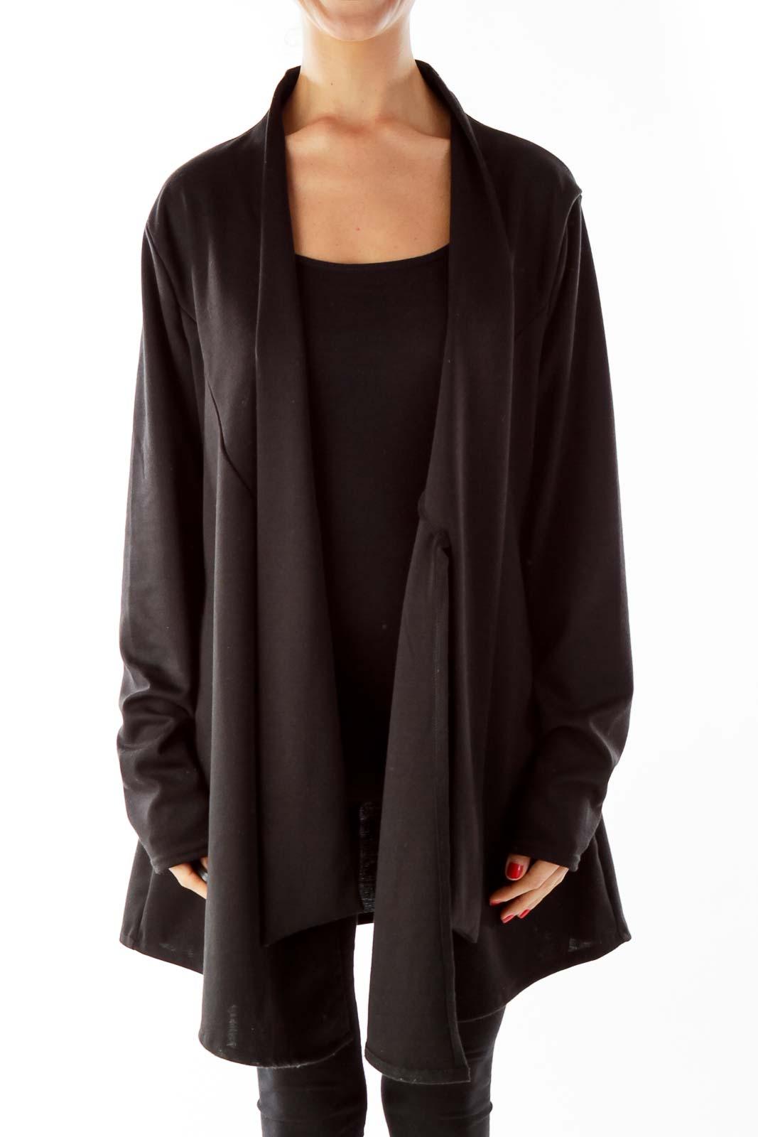 Black Open Faced Blazer Front