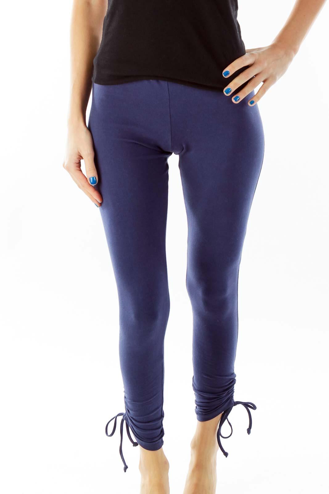 Blue Yoga Pants Front