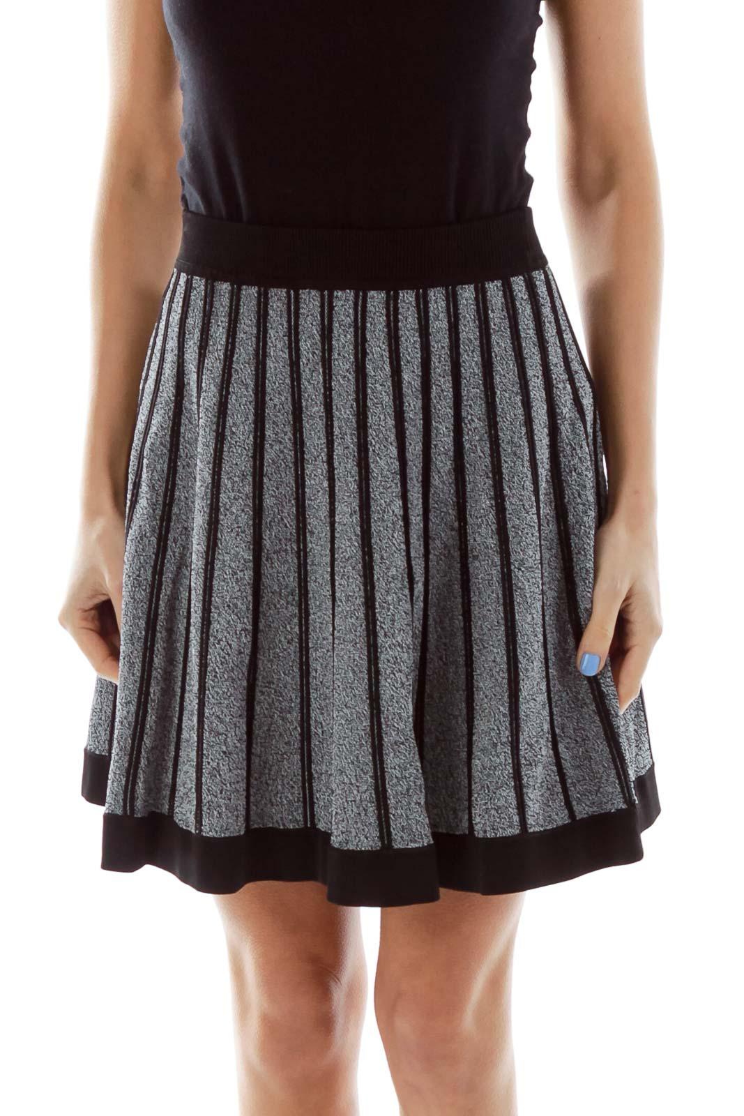 Gray Flared Skirt Front