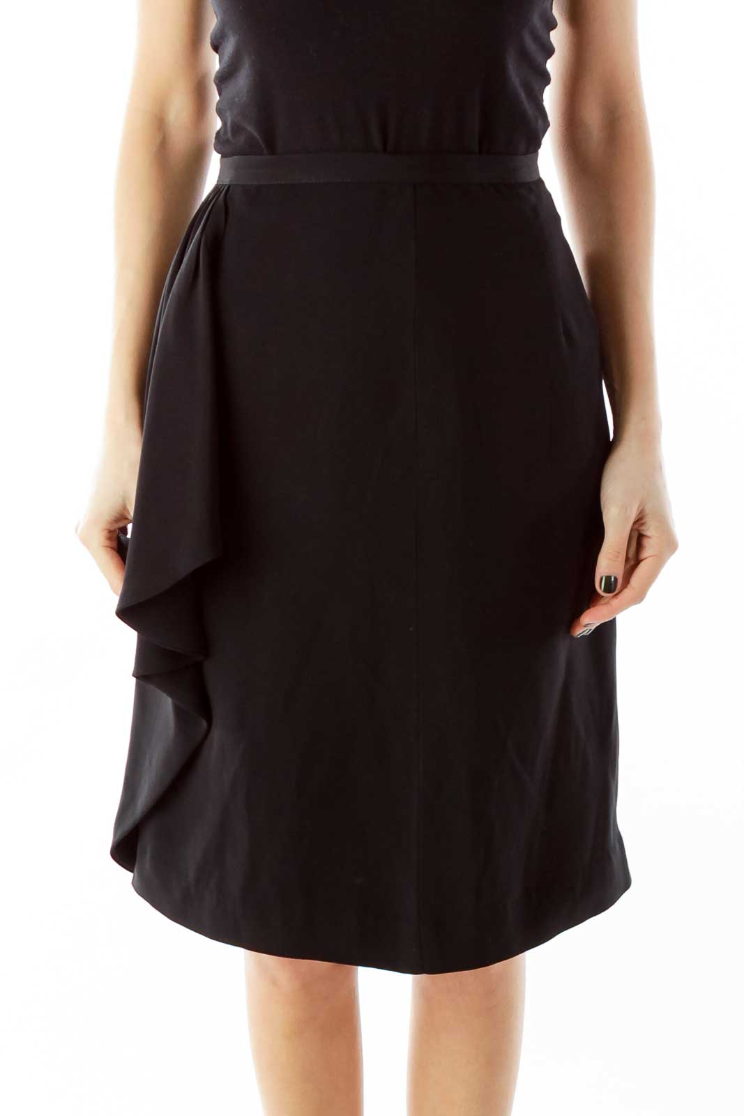 Black Ruffled Skirt Front