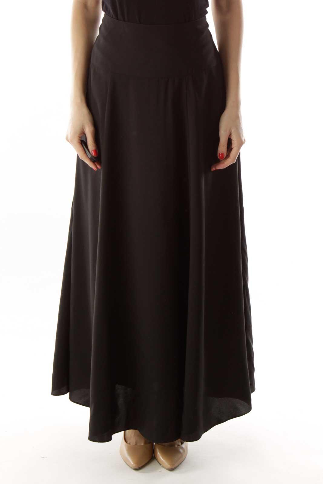 Black Maxi Skirt Front