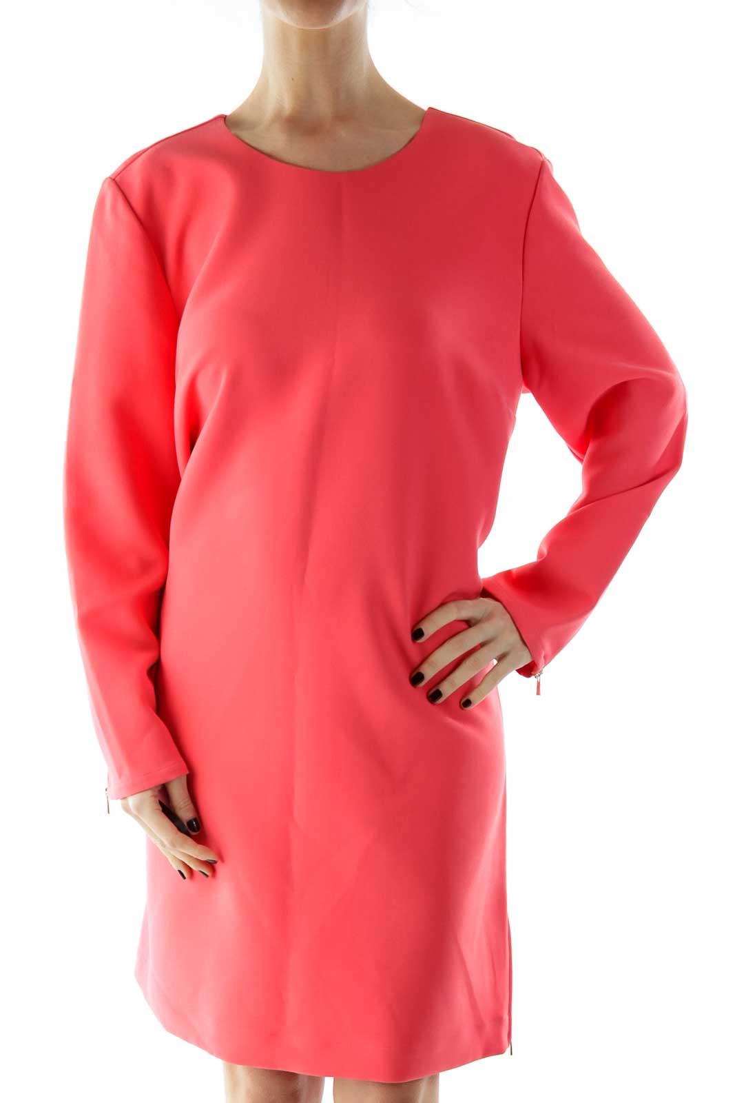 Pink Zippered Dress Front
