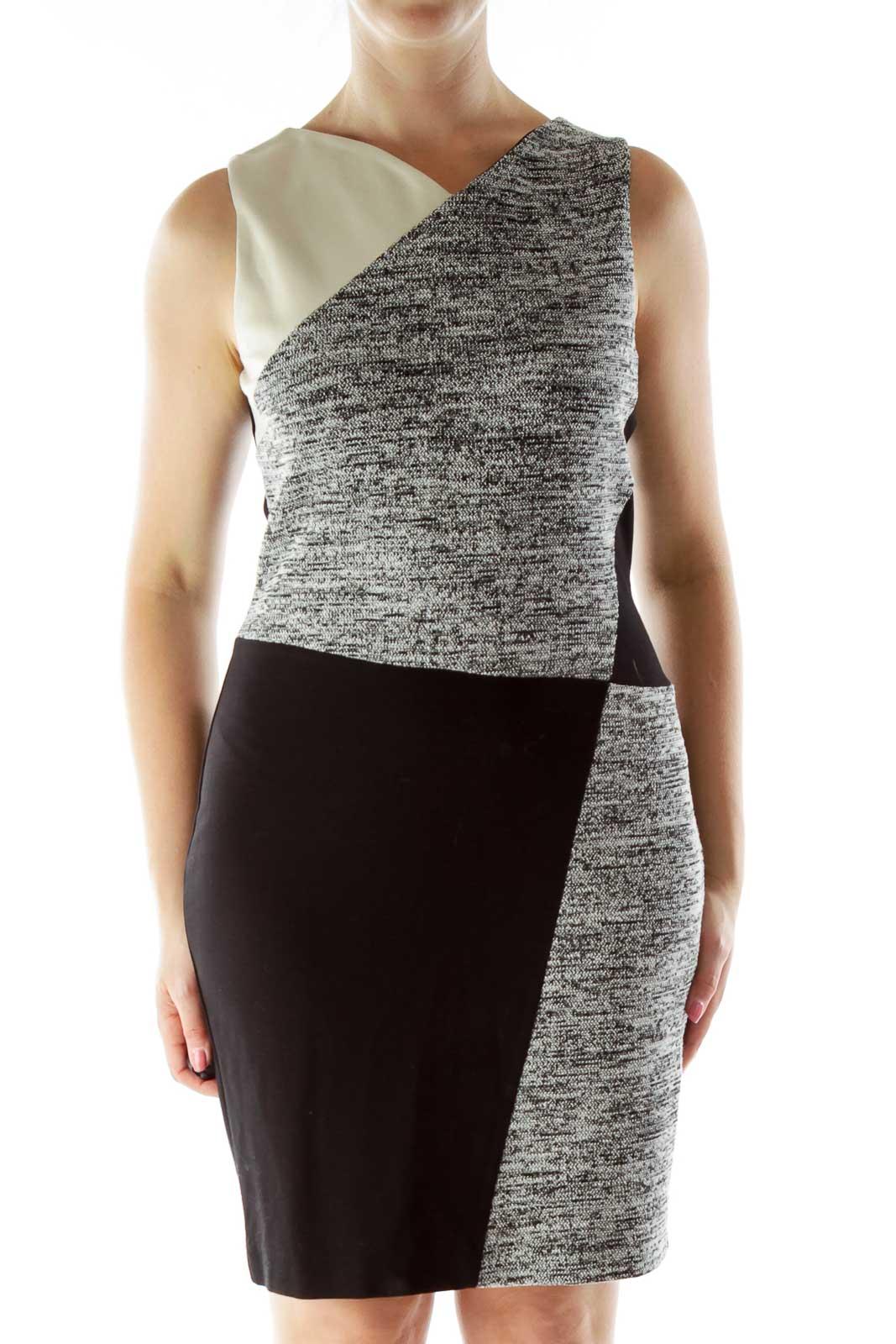 Black Tweed Dress Front