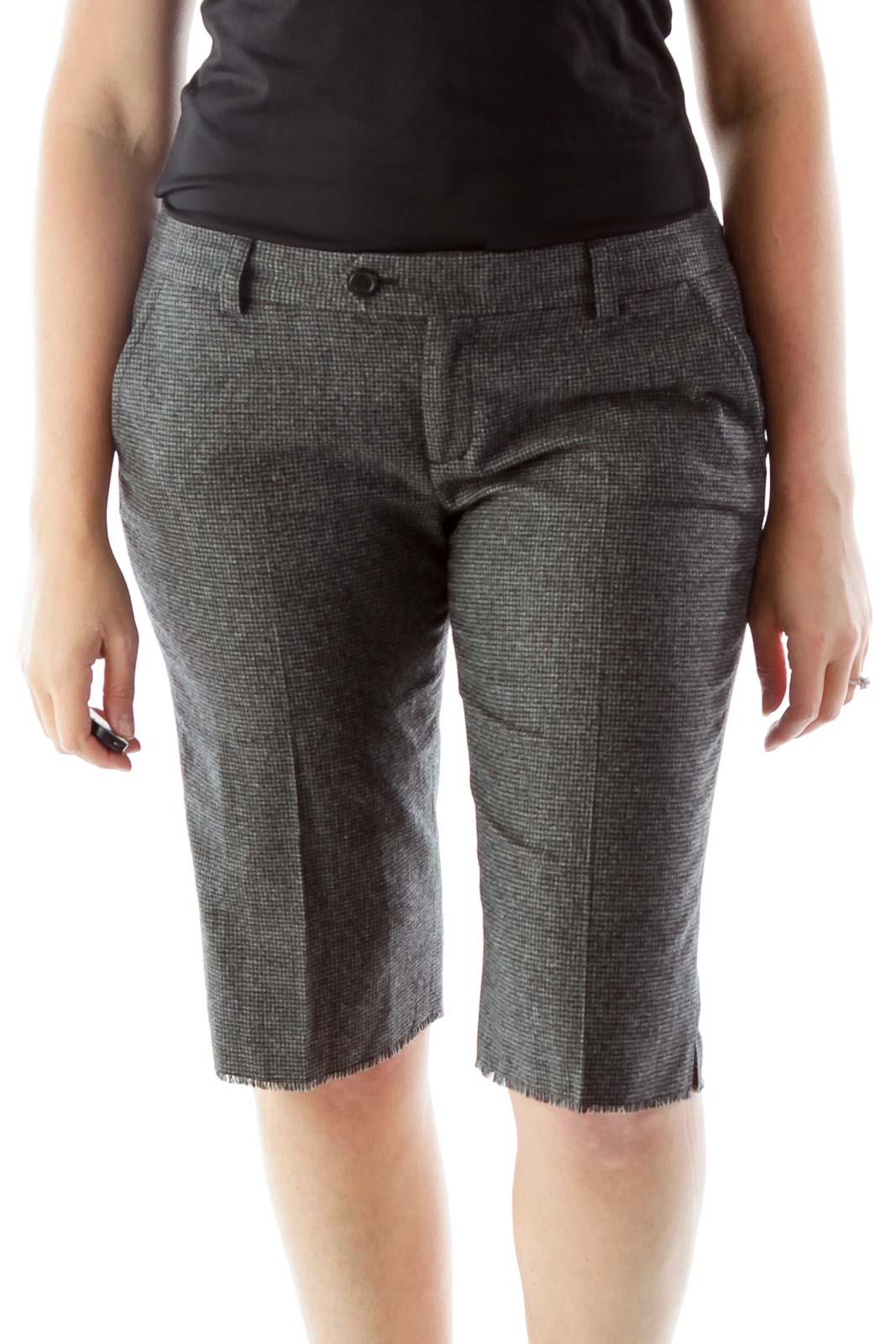Tweed Shorts Front