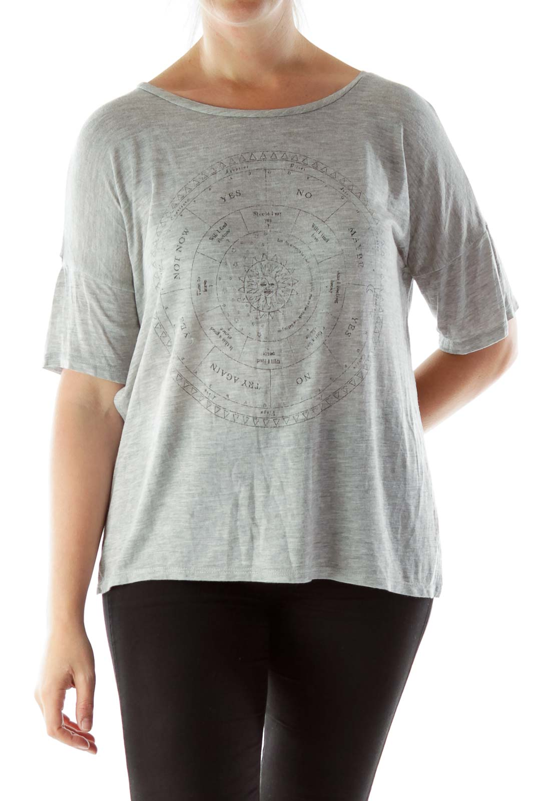 Graphic Gray T Shirt Front