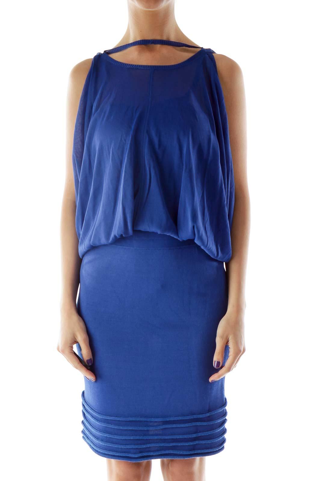 Blue Sheer Dress Front