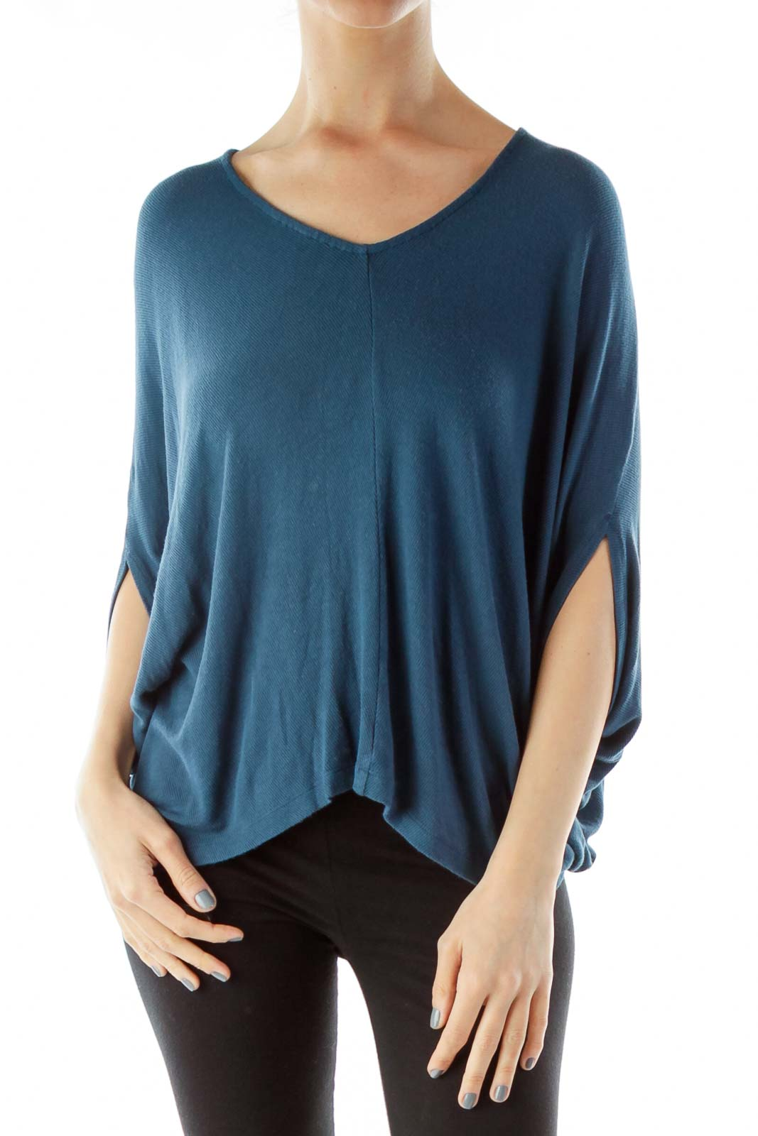 Blue Loose Top Front