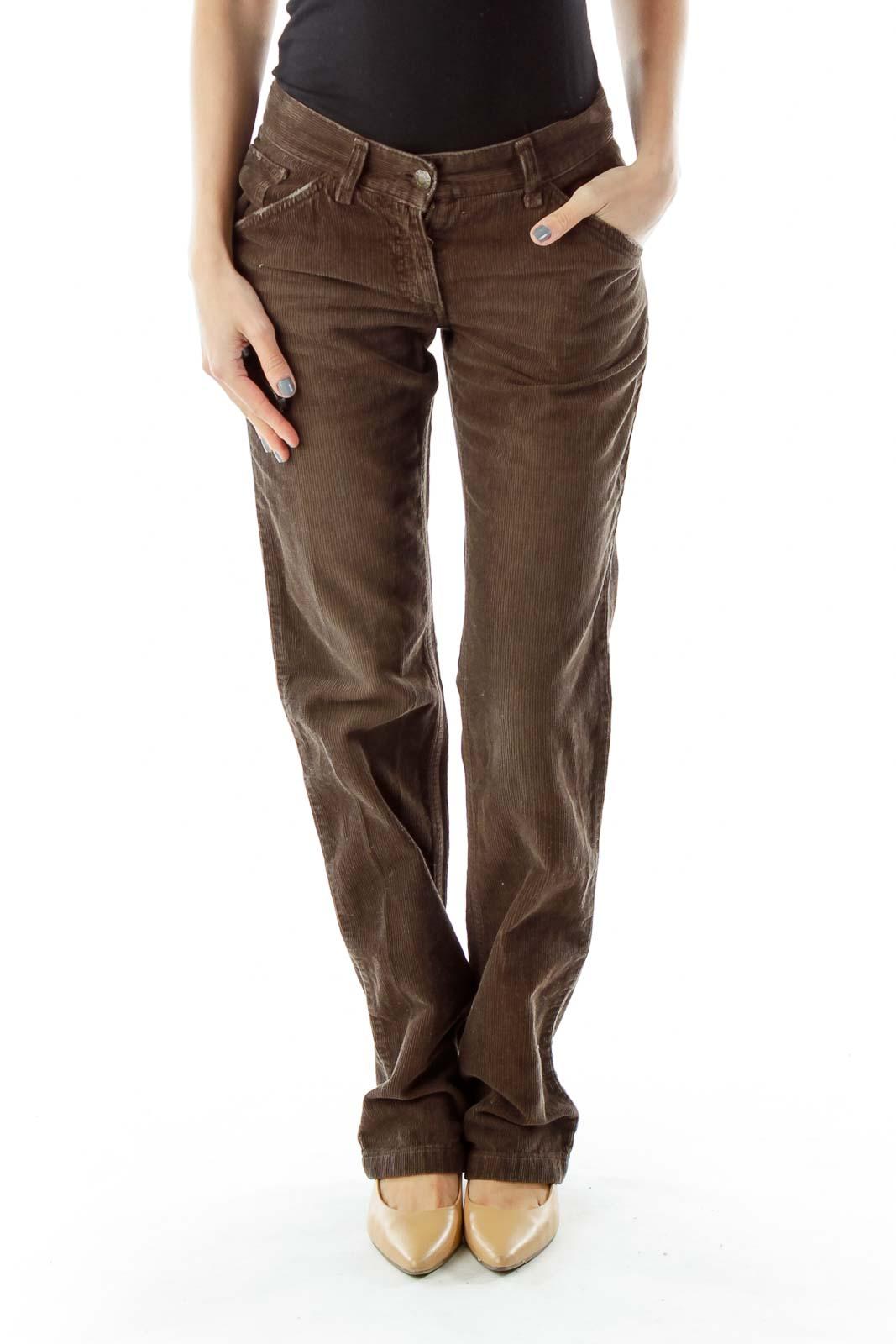 Brown Corduroy Pants Front