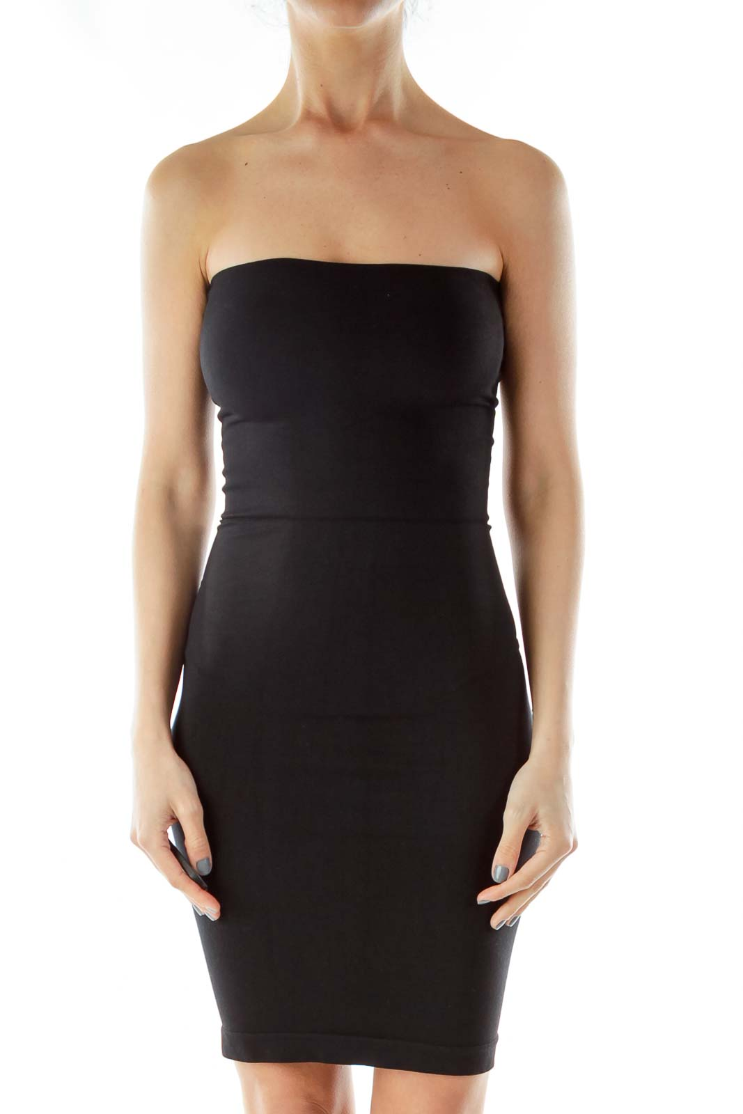 Black Fitted Dress Front