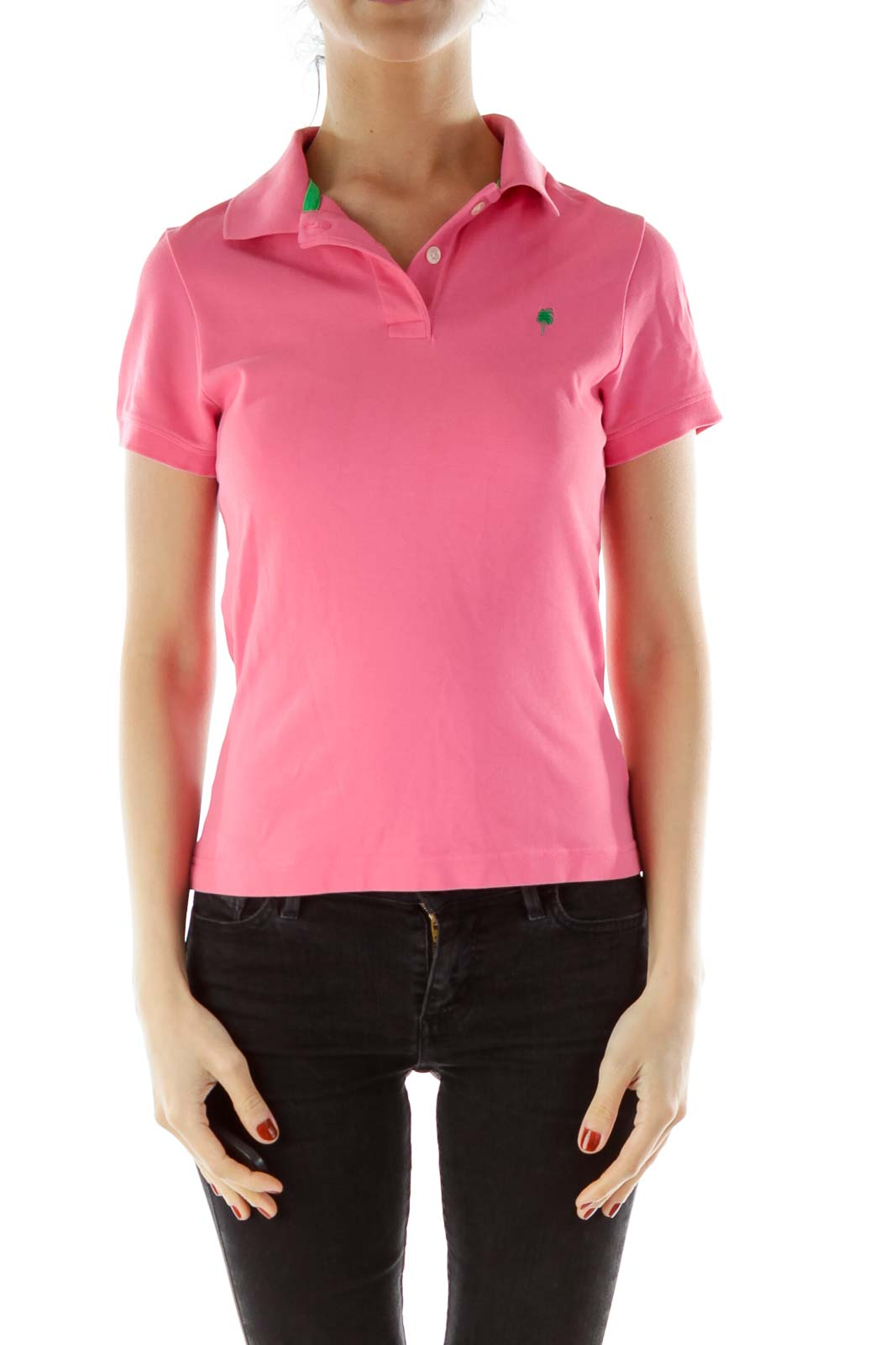 Pink Collared Shirt Front