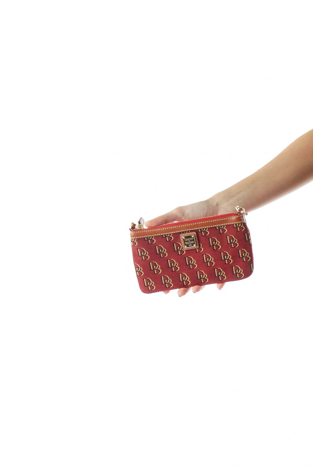 Red Printed Wristlet Front