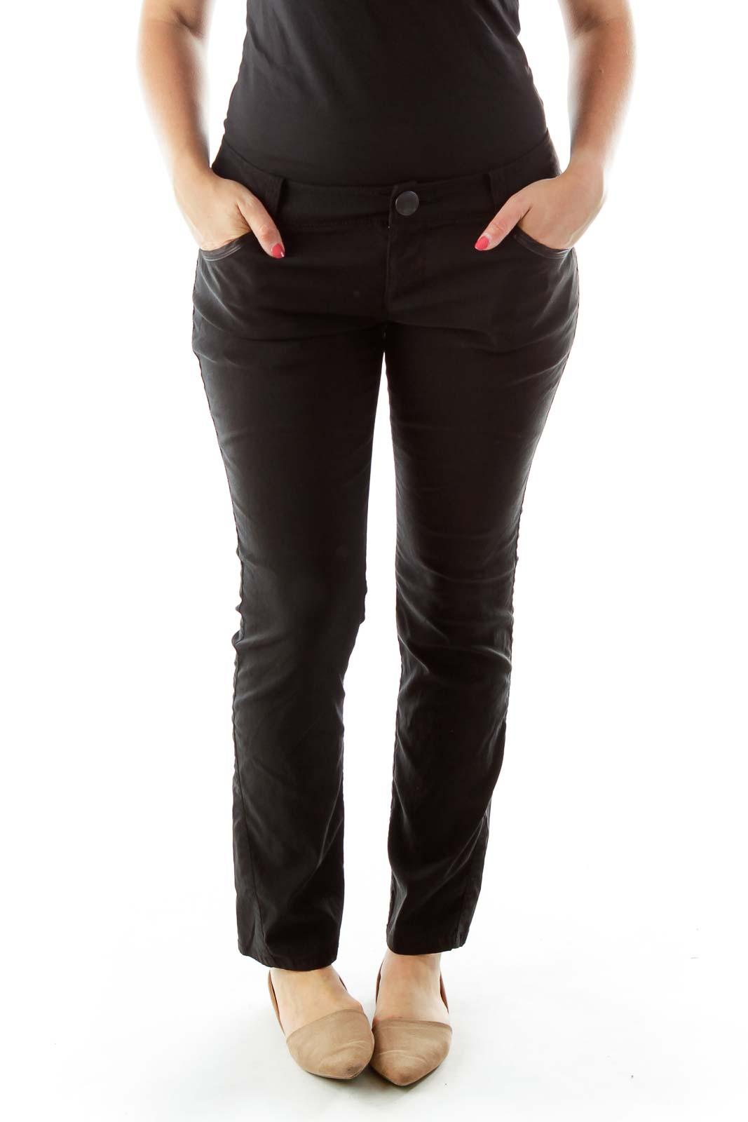 Black Skinny Pants Front