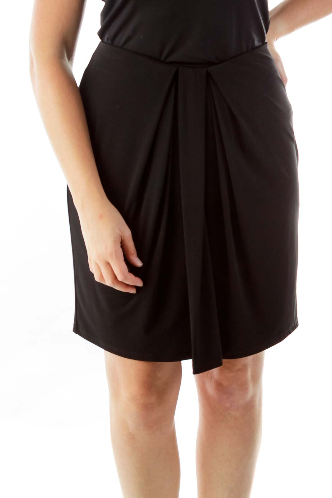 Black Pleated Skirt Front