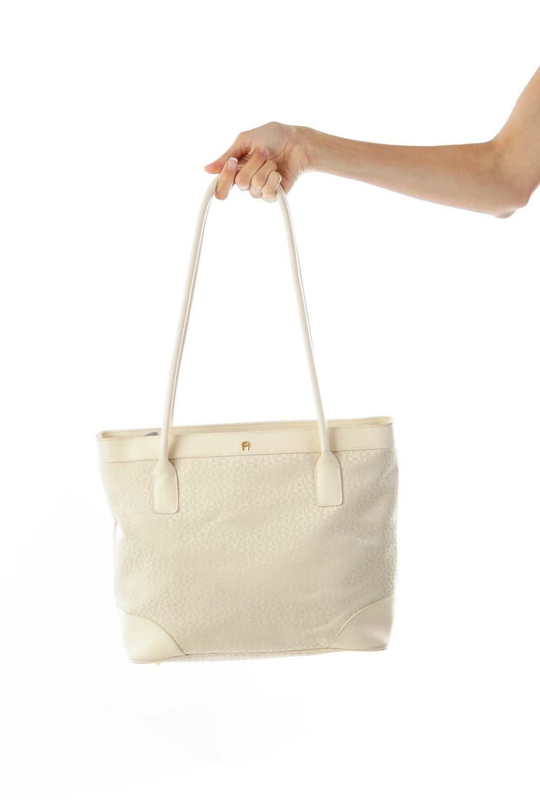 Cream Bag w/ Small case Front